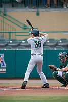 Dartmouth Big Green center fielder Trevor Johnson (36) at bat during a game against the USF Bulls on March 17, 2019 at USF Baseball Stadium in Tampa, Florida.  USF defeated Dartmouth 4-1.  (Mike Janes/Four Seam Images)