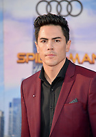 Tom Sandoval at the world premiere for &quot;Spider-Man: Homecoming&quot; at the TCL Chinese Theatre, Los Angeles, USA 28 June  2017<br /> Picture: Paul Smith/Featureflash/SilverHub 0208 004 5359 sales@silverhubmedia.com