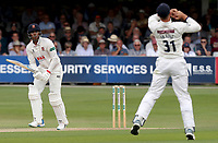 Rishi Patel of Essex is caught by Will Fraine during Essex CCC vs Yorkshire CCC, Specsavers County Championship Division 1 Cricket at The Cloudfm County Ground on 8th July 2019