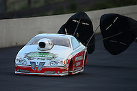 Jul, 20, 2012; Morrison, CO, USA: NHRA pro stock driver Mike Edwards during qualifying for the Mile High Nationals at Bandimere Speedway. Mandatory Credit: Mark J. Rebilas-