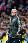 Head coach Jupp Heynckes of FC Bayern Munich reacts during the UEFA Champions League Semi-final 2nd leg match between Real Madrid and Bayern Munich at the Estadio Santiago Bernabeu on May 01 2018 in Madrid, Spain. Photo by Diego Souto / Power Sport Images