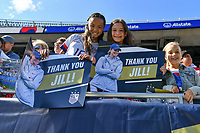 CHICAGO, IL - OCTOBER 06: Fans of the United States prior to their game versus Korea Republic at Soldier Field, on October 06, 2019 in Chicago, IL.