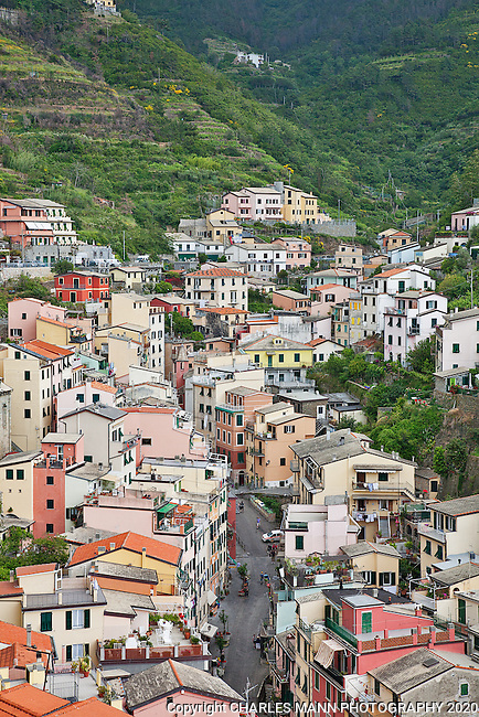 Riomaggiore is one of the five towns of the Cinque Terre in northern Italy.