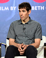 """PASADENA, CA - FEBRUARY 8: Film subject Alex Honnold attends the """"Free Solo"""" panel at the 2019 National Geographic portion of the Television Critics Association Winter Press Tour at The Langham Huntington Hotel on February 8, 2019 in Pasadena, California. (Photo by Frank Micelotta/Fox/PictureGroup)"""