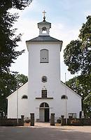 The Stenbrohult parish church where Linnaeus father was priest. Smaland region. Sweden, Europe.