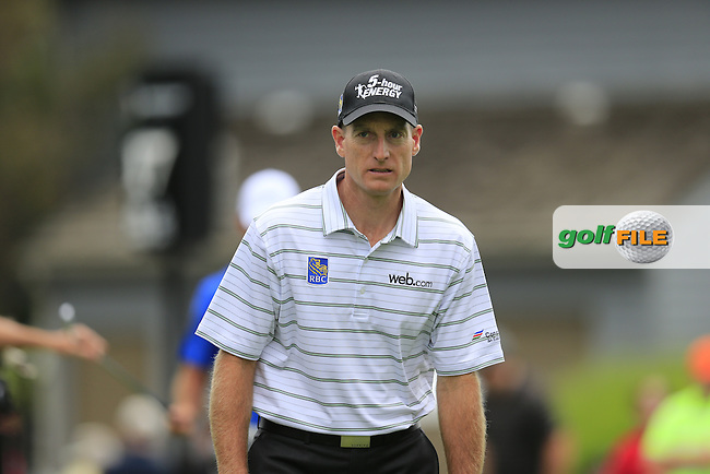 Jim Furyk (USA) walks off the 17th tee during Friday's Round 1 of the 2013 Bridgestone Invitational WGC tournament held at the Firestone Country Club, Akron, Ohio. 2nd August 2013.<br /> Picture: Eoin Clarke www.golffile.ie