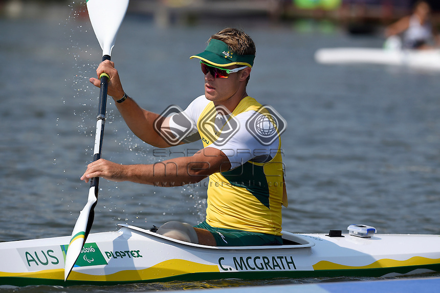 Curtis McGrath &ndash; Men&rsquo;s KL2 <br /> Olympic Stadium / Day 7 Canoe<br /> 2016 Paralympic Games - RIO Brazil<br /> Australian Paralympic Committee<br /> Rio Brazil Wednesday 14th September 2016<br /> &copy; Sport the library / Jeff Crow