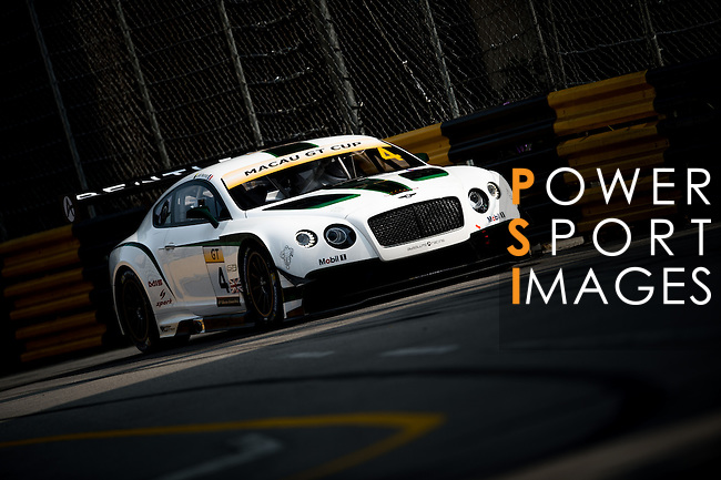 Jean-Karl Vernay races the Macau GT Cup during the 61st Macau Grand Prix on November 14, 2014 at Macau street circuit in Macau, China. Photo by Aitor Alcalde / Power Sport Images