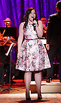 Lindsay Mendez performing in The American Pops Orchestra '75 Years of Streisand'  at the George Washington University Lisner Auditorium on January 13, 2017 in New York City.