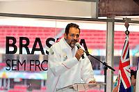 BRASÍLIA, DF, 14.05.2014 – BRASÍLIA SEM FRONTEIRAS – O governador do Distrito Federal Agnelo Queiroz durante abertura oficial do Brasília sem fronteiras, no Estádio Nacional Mané Garrincha, na manhã desta quarta-feira, 14. (Foto: Ricardo Botelho / Brazil Photo Press).