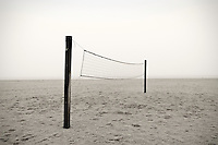 Beach vollyball net.
