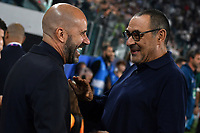 Peter Bosz coach of Leverkusen , Maurizio Sarri coach of Juventus <br /> Torino 01/10/2019 Juventus Stadium <br /> Football Champions League 2019//2020 <br /> Group Stage Group D <br /> Juventus - Leverkusen <br /> Photo Andrea Staccioli / Insidefoto