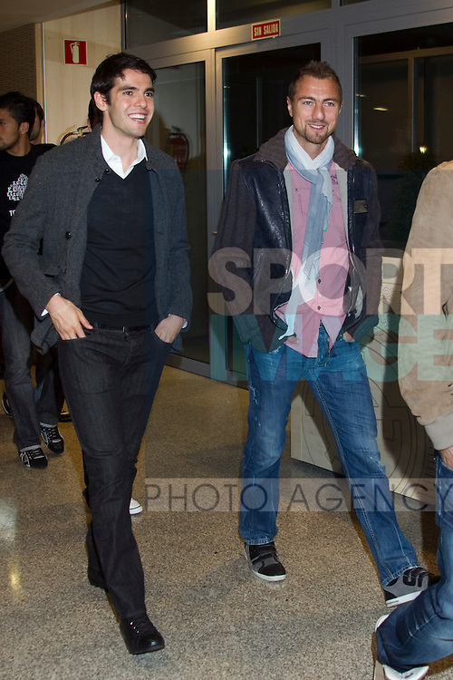 MADRID (08/11/2010).- Real Madrid players receive new cars from Audi, team Sponsor. Kaka, Jerzy Dudek