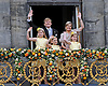 "30.04.2013; Amsterdam: KING WILLEM-ALEXANDER AND QUEEN MAXIMA WITH CHILDREN (Princess Amalia, Princess of Orange.Princess Alexia, Princess Ariane).after the Abdication, appear on the balcony of the Royal Palace, Amsterdam, The Netherlands..Mandatory Credit Photos: ©NEWSPIX INTERNATIONAL..**ALL FEES PAYABLE TO: ""NEWSPIX INTERNATIONAL""**..PHOTO CREDIT MANDATORY!!: NEWSPIX INTERNATIONAL(Failure to credit will incur a surcharge of 100% of reproduction fees)..IMMEDIATE CONFIRMATION OF USAGE REQUIRED:.Newspix International, 31 Chinnery Hill, Bishop's Stortford, ENGLAND CM23 3PS.Tel:+441279 324672  ; Fax: +441279656877.Mobile:  0777568 1153.e-mail: info@newspixinternational.co.uk"