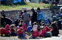 Pictured: Migrants at the refugee camp Tuesday 23 February 2016<br /> Re: Migrants at a refugee camp in the Schisto area of Athens, Greece.