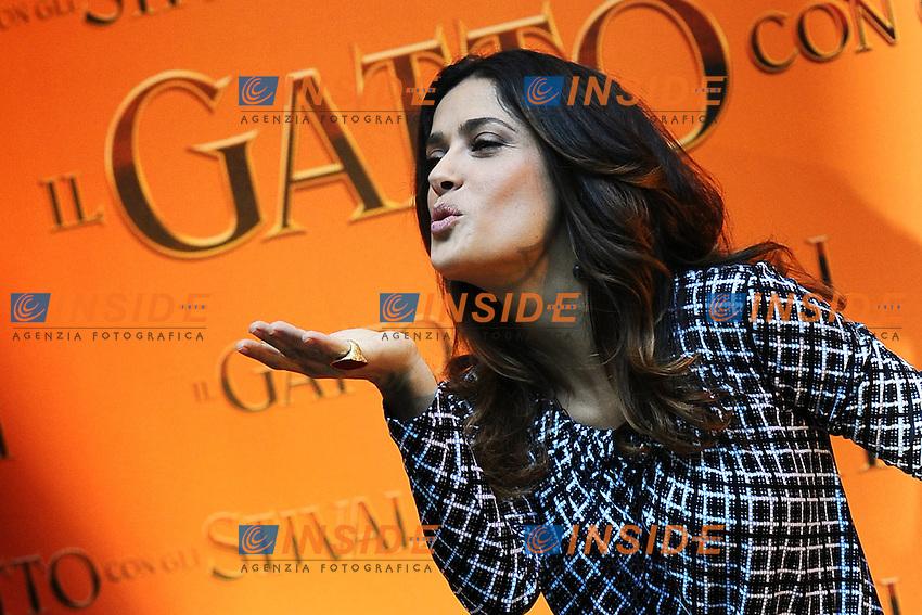 """Salma Hayek.Photo Call """"Il Gatto con gli Stivali""""/ """"Puss in Boots"""" .25/11/2011, Roma.Photo Insidefoto Antonietta Baldassarre"""