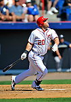 12 March 2011: Washington Nationals' outfielder Laynce Nix in action during a Spring Training game against the New York Yankees at Space Coast Stadium in Viera, Florida. The Nationals edged out the Yankees 6-5 in Grapefruit League action. Mandatory Credit: Ed Wolfstein Photo