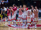 22nd March 2018, Aleksandar Nikolic Hall, Belgrade, Serbia; Turkish Airlines Euroleague Basketball, Crvena Zvezda mts Belgrade versus Fenerbahce Dogus Istanbul; Players of Crvena Zvezda mts Belgrade greet the public after losing the game
