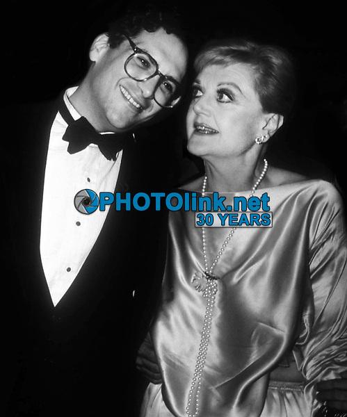 Harvey Fierstein and Angela andsbury 1983<br /> Photo By John Barrett/PHOTOlink