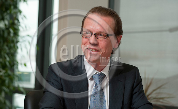 Brussels-Belgium - May 31, 2010 -- Algirdas ?EMETA (Semeta), European Commissioner from Lithuania, in charge of Taxation and Customs Union, Audit and Anti-Fraud, during an interview in his office -- Photo: Horst Wagner / eup-images