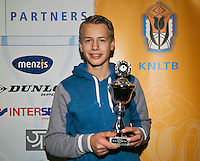 01-12-13,Netherlands, Almere,  National Tennis Center, Tennis, Winter Youth Circuit, Boys 16 years , 3 th place : Tom Moonen<br /> Photo: Henk Koster