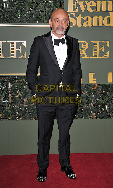 Christian Louboutin attends the London Evening Standard Theatre Awards 2015, The Old Vic, The Cut, London, England, UK, on Sunday 22 November 2015.<br /> CAP/CAN<br /> &copy;CAN/Capital Pictures