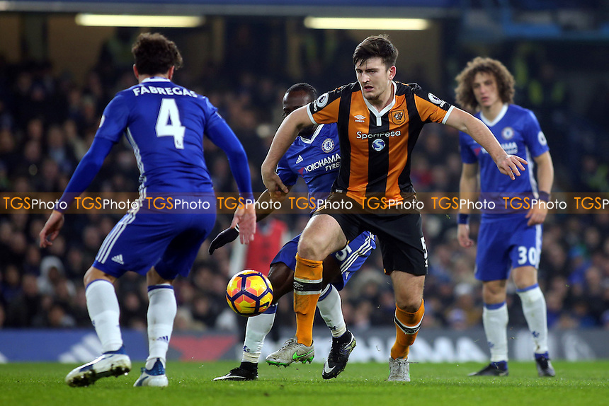 Harry Maguire of Hull City in action during Chelsea vs Hull City, Premier League Football at Stamford Bridge on 22nd January 2017