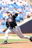 July 10th 2008:  Relief pitcher Charles Benoit of the Hickory Crawdads, Class-A affiliate of the Pittsburgh Pirates, during a game at Classic Park in Eastlake, OH.  Photo by:  Mike Janes/Four Seam Images