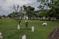 Indonesia - Sumatra - Banda Aceh - Ulee Lheue - A mass grave containing approximately 14,800 bodies, before the tsunami this area used to be the Meuraxa Public Hospital.