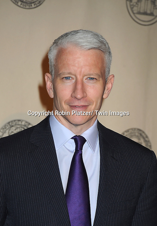 Anderson Cooper attends the 71st Annual Peabody Awards at the Waldorf Astoria Hotel in New York City on May 21, 2012.