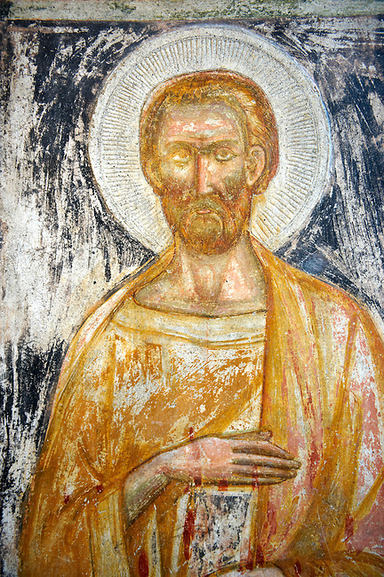 Late medieval Byzantine Frescos 13-14th century, Of the Cathedral museum chapel, Amalfi, Italy