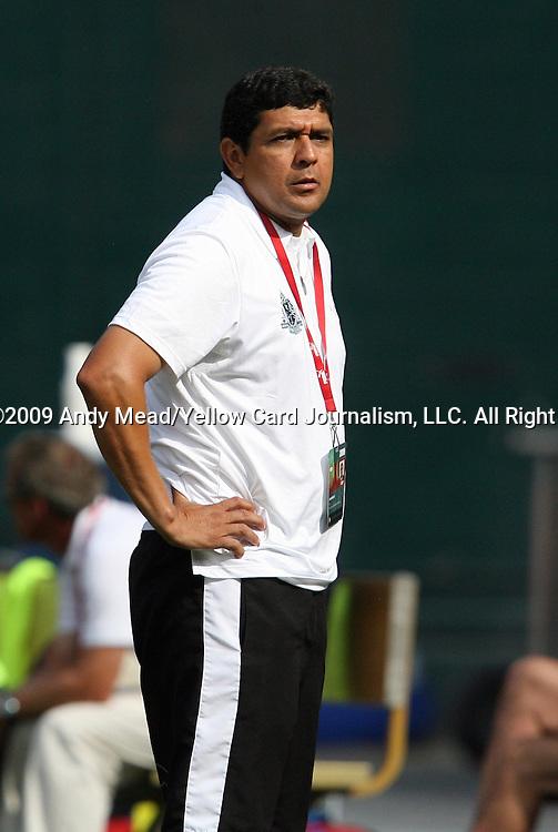 18 July 2009: Saint Louis head coach Jorge Barcellos (BRA). The Washington Freedom defeated Saint Louis Athletica 1-0 at the RFK Stadium in Washington, DC in a regular season Women's Professional Soccer game.
