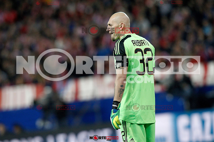 AC Milan's Christian Abbiati during Champions League 2013/2014 match.March 11,2014. (ALTERPHOTOS/Acero)