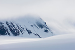 Norway, Svalbard, snow-covered glacier
