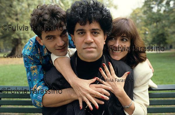 Milano, 1988, ; Milan, 1988, Pedro Almodòvar, Carmen Maura, Antonio Banderas