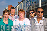 DA?IL TRIP: At Tralee railway station on Tuesday morning on their way to the Da?il were adult education students, l-r: Sandra Healy, John Horan, Anne Ryle, Isobel Dumont and Seif Taher.   Copyright Kerry's Eye 2008