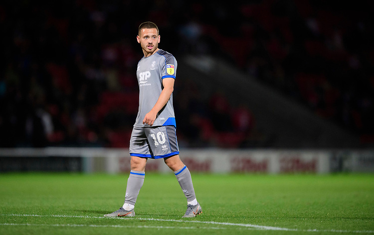Lincoln City's Jack Payne<br /> <br /> Photographer Chris Vaughan/CameraSport<br /> <br /> EFL Leasing.com Trophy - Northern Section - Group H - Doncaster Rovers v Lincoln City - Tuesday 3rd September 2019 - Keepmoat Stadium - Doncaster<br />  <br /> World Copyright © 2018 CameraSport. All rights reserved. 43 Linden Ave. Countesthorpe. Leicester. England. LE8 5PG - Tel: +44 (0) 116 277 4147 - admin@camerasport.com - www.camerasport.com