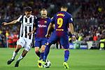 UEFA Champions League 2017/2018 - Matchday 1.<br /> FC Barcelona vs Juventus Football Club: 3-0.<br /> Andres Iniesta vs Rodrigo Bentancur.