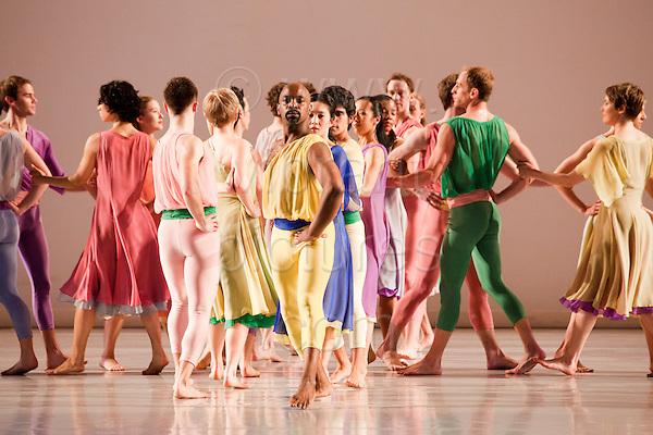 Mark Morris Dance Group performing Handel's L'Allegro, Il Penseroso ed Il Moderato, Spring Dance at the London Coliseum Theatre, London, England, UK, Europe