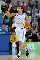 GB's Devon Van Oostrum gives instructions during the EuroBasket 2015 2nd Qualifying Round Great Britain v Bosnia & Herzegovina (Euro Basket 2nd Qualifying Round) at Copper Box Arena in London. - 13/08/2014