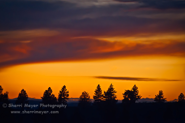 """Fire in the Sky"" - Adin Sunset, Northeastern California."
