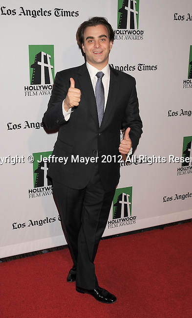 BEVERLY HILLS, CA - OCTOBER 22: Nicholas Jarecki  arrives at the 16th Annual Hollywood Film Awards Gala presented by The Los Angeles Times held at The Beverly Hilton Hotel on October 22, 2012 in Beverly Hills, California.