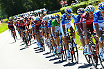 FDJ on the front of the peloton during Stage 5 of the Criterium du Dauphine 2017, running 175.5km from La Tour-de Salvagny to Macon, France. 8th June 2017. <br /> Picture: ASO/A.Broadway | Cyclefile<br /> <br /> <br /> All photos usage must carry mandatory copyright credit (&copy; Cyclefile | ASO/A.Broadway)