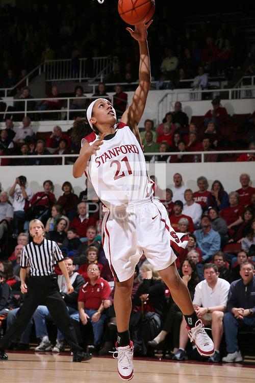 28 December 2007: Rosalyn Gold-Onwude during Stanford's 105-47 win over Washington State at Maples Pavilion in Stanford, CA.