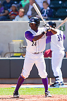 Jared Mitchell #24 of the Winston-Salem Dash at bat against the Kinston Indians at BB&T Ballpark on April 17, 2011 in Winston-Salem, North Carolina.   Photo by Brian Westerholt / Four Seam Images