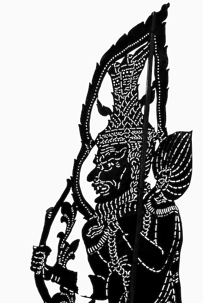 A Cambodian Shadow puppet. Siem Reap, Cambodia.