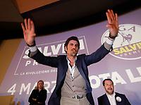Gianluca Cantalamessa durante il  tour elettorale di Matteo Salvini a Caserta