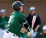First baseman Zach Krider (24) of the University of South Carolina Upstate Spartans in a game against the Citadel Bulldogs on Tuesday, February, 18, 2014, at Cleveland S. Harley Park in Spartanburg, South Carolina. Upstate won, 6-2. (Tom Priddy/Four Seam Images)