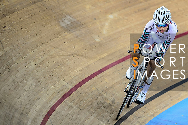 Chung Kin Lok of team X SPEED during the Indiviual Pursuit Youth Qualifying (3KM) Track Cycling Race 2016-17 Series 3 at the Hong Kong Velodrome on February 4, 2017 in Hong Kong, China. Photo by Marcio Rodrigo Machado / Power Sport Images
