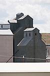 Corrugated grain elevators, Odessa, Wash.